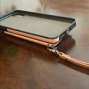 Accessories - Rose Gold IPhone XS Max Wallet Case W Strap